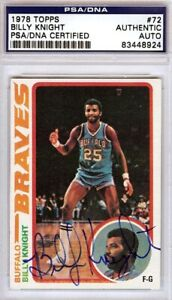 Billy-Knight-Autographed-Signed-1978-Topps-Auto-Card-72-Braves-PSA-DNA-83448924