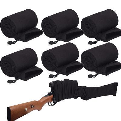 "6Pcs Silicone Treated 54/"" Rifle Shotgun Gun Sock Sleeve Shooting Bag Cover Pouch"