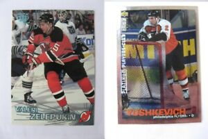 1995-96 Collector's Choice #249 Yushkevich Dimitri PLATINUM player's club  flyer