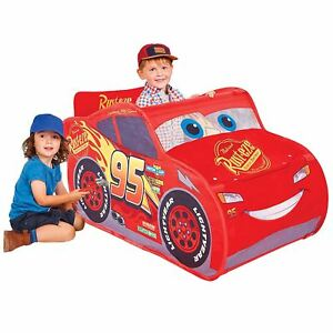 online store e85f9 685c5 Details about OFFICIAL DISNEY CARS LIGHTING MCQUEEN POP UP PLAY TENT KIDS  BOYS