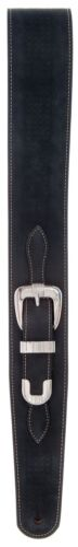 Planet Waves Guitar Strap  Leather  Black  Belt Buckle Style D/'Addario