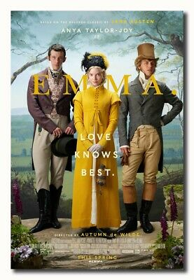 6382 Emma 2020 Movie Poster Art Silk 24x36 32x48