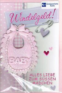 Details Zu Glückwunschkarte Geburt Mädchen Karte Glückwunsch Baby Din 6
