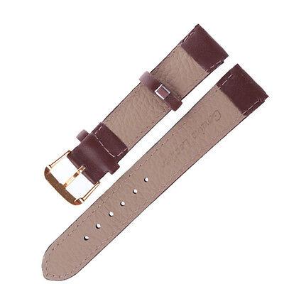 Fashion Unisex Genuine Leather Black Brown Watch Strap Band Wristwatch Bands Hot