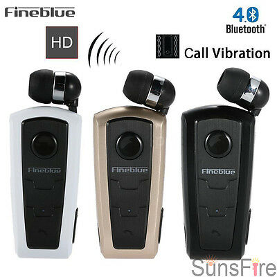 FineBlue F960 Wireless Bluetooth4.0 Headset Vibrating Alert Wear Clip Earphone