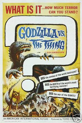 Godzilla Vs the thing vintage movie poster print