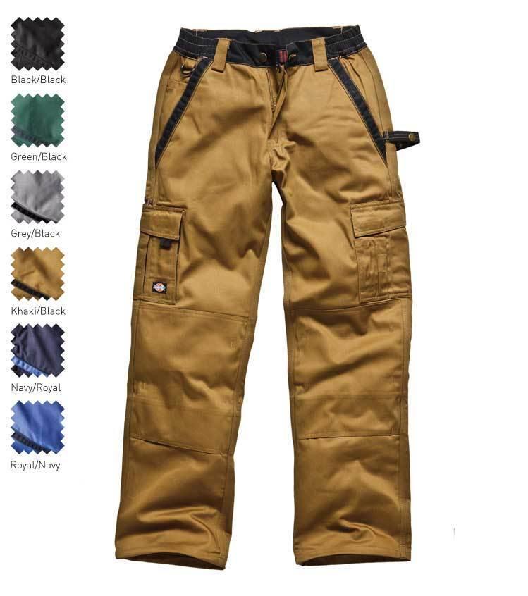 Dickies Workwear industria 300 Trabajo Rodillera Pantalones Pantalones Rodillera 7 Pockets Negro d330f6