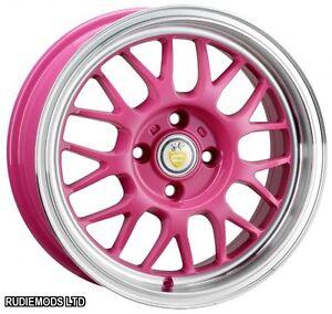 Cades-Eros-Candy-Pink-15-034-6-5J-Alloy-Wheels-4x100