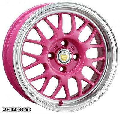 "Cades Eros Candy Pink 15"" 6.5J Alloy Wheels 4x100 SHIPPING TO SWEDEN"