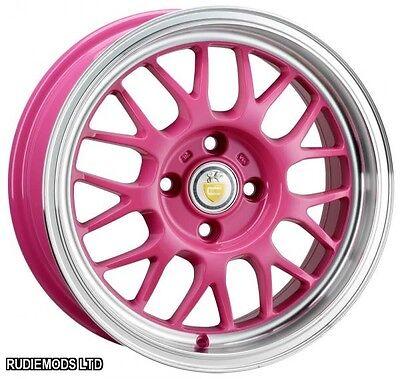 "Cades Eros Candy Pink 15"" 6.5J Alloy Wheels 4x100"