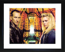 Dr Who And Rose Tyler Christopher Ecclestone and Billie Piper Framed Photo