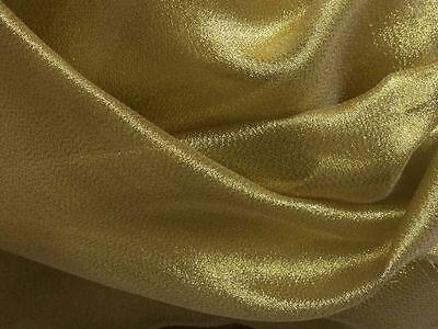 METALLIC CRYSTAL ORGANZA in GOLD Stoff METERWARE NEU