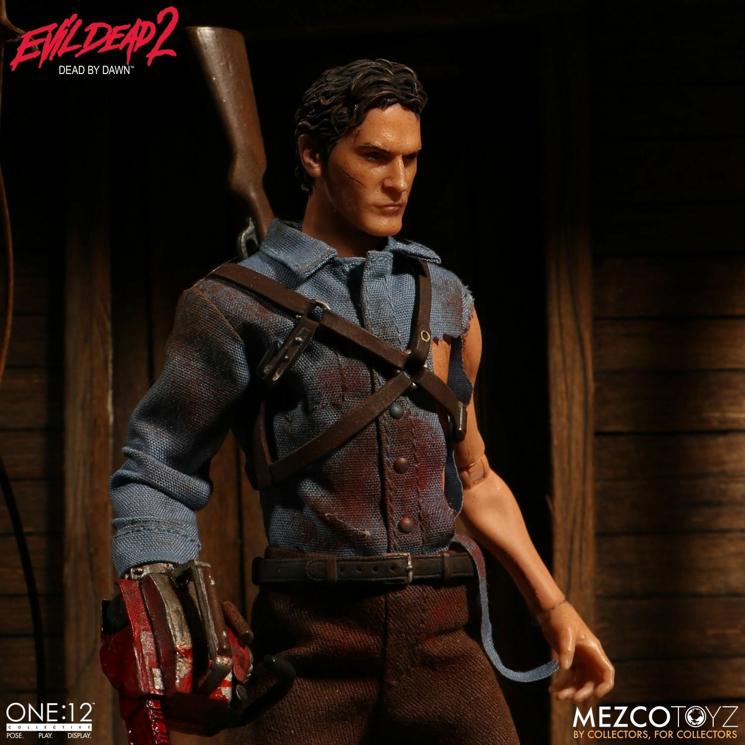 MEZCO ONE 12 COLLECTIVE ASH FROM EVIL DEAD 2