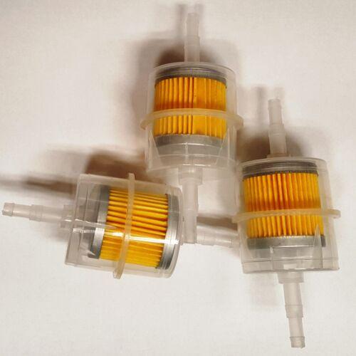 Lot of 3 Pcs Clear plastic 5//16 Inline fuel filter