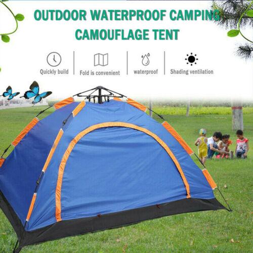 Campingzelt 2-3 Personen Pop Up Familienzelt Igluzelt Kuppelzelt mit Tragetasche