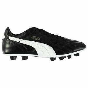 Puma-Homme-King-Top-di-FG-Chaussures-De-Football-Ferme-Sol-Lacets-Rivets-dessus-en-cuir