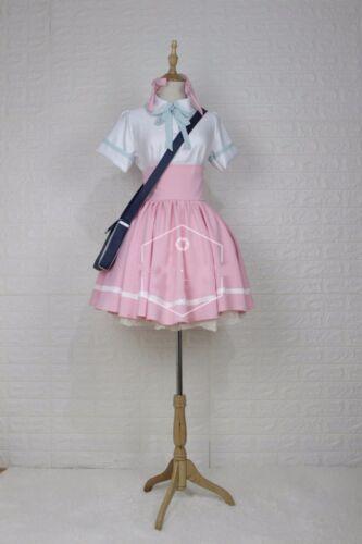 Clear Card Sakura Kinomoto Pink Dress casual cosplay costume Cardcaptor Sakura