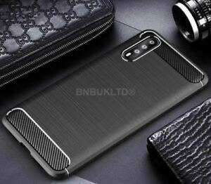 best website f0d59 f9455 Details about For Huawei P20 Pro Carbon Fibre Gel Case Cover & Glass Screen  Protector