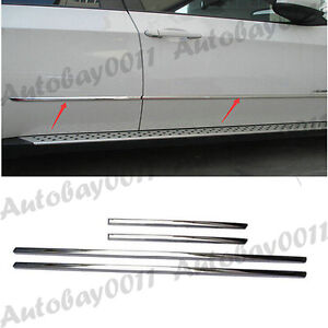 Stainless-Steel-Side-Door-Body-Molding-Trim-Cover-Garnish-For-BMW-X5-E70-08-13