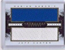14-15 PANINI ANTHOLOGY PAIRED PIECES MARIAN GABORIK-JEFF CARTER DUAL JERSEY