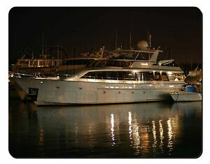 Yacht in Harbour Computer Mouse Mat Christmas Gift Idea, BOA-1M