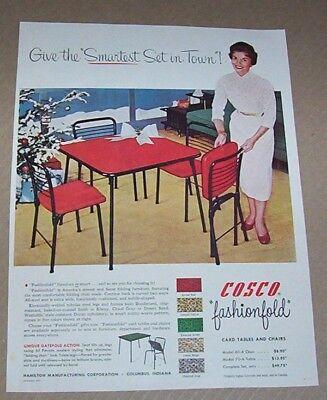 1954 Vintage Print Ad Cosco Folding Tables Furniture Hamilton Columbus Indiana Ebay