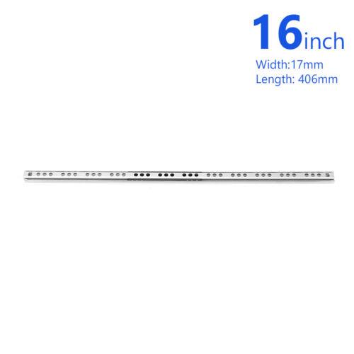 "8/""-16/"" 17mm Ball Bearing Drawer Slides Cupboard Cabinet Drawer Guides Rail x2 3"