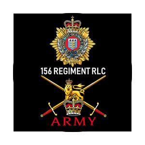 BRITISH ARMY 156 REGIMENT RLC BADGE ROYAL LOGISTIC CORPS