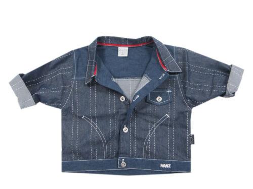 Kanz Jacke Jeansjacke Übergangsjacke Jungen Kinder Sommer Blau Baby Gr.68