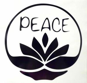 Peace Lotus Flower Girly Cool Car Truck Window Vinyl Decal Sticker