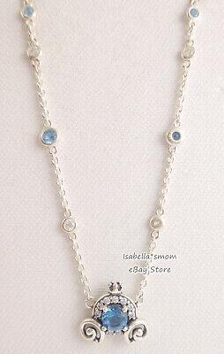 Disney Cendrillon Citrouille Coach Véritable PANDORA Bleu Collier 399198C01  | eBay
