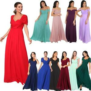 Women-Formal-Dress-Evening-Wedding-Ball-Long-Gown-Maxi-Prom-On-Off-Shoulder-8-18