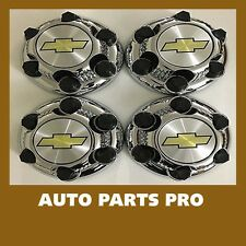 "4pcs SET 2000-13 Chevy 1500 Truck Van 16"" 17"" 6 LUG Chrome WHEEL Center Caps"