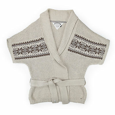 Rapimento Tommy Hilfiger Cardigan Donna Xl 42 Poncho Cardigan Woman Jacket Knit Nuovo-
