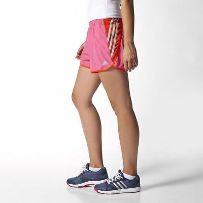 FäHig Adidas Women's Ultimate 3 Stripe Shorts Run Running Sport Gym Fitness Solar Pink