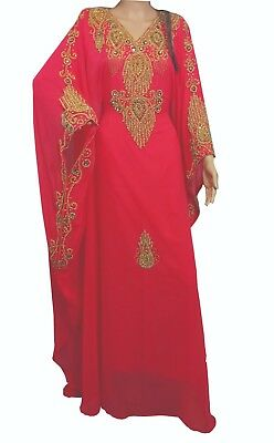Dubai Moroccan Kaftan Georgette Dress Jilbab Arabian clothing Islamic Ms 14190