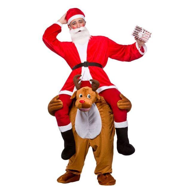 Brand New Carry Me Reindeer Santa Adult Costume