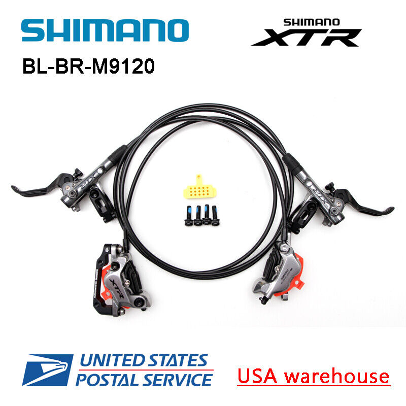 New SHIMANO XTR BL-BR-M9120 4 Pistons Hydraulic Disc Ice Tech Brake Set F&R OE