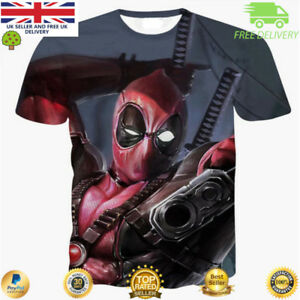 Para-Hombres-Camiseta-Deadpool-Comic-Superheroe-Cool-3D-impresion-camisetas-Marvel-Avenger