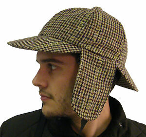 Campbell Cooper Brand New Classic High Quality Tweed Deerstalker Hat ... 23f8ee617fb