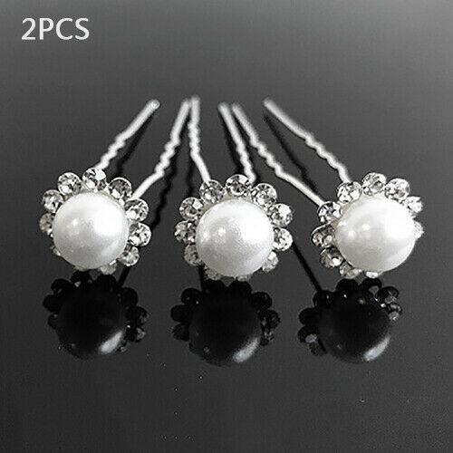 Bride Hairpin Pearl Flower Hair Clasp Hairpin Accessories Wedding Dancing Party