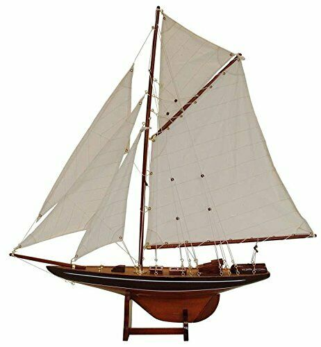 Home Loft Concept Columbia Lux Model Boat Wood braun