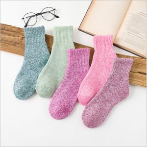 5 Paar Wollsocken Winter Socken Freizeit Wintersocken Wolle Strümpfe Damen de