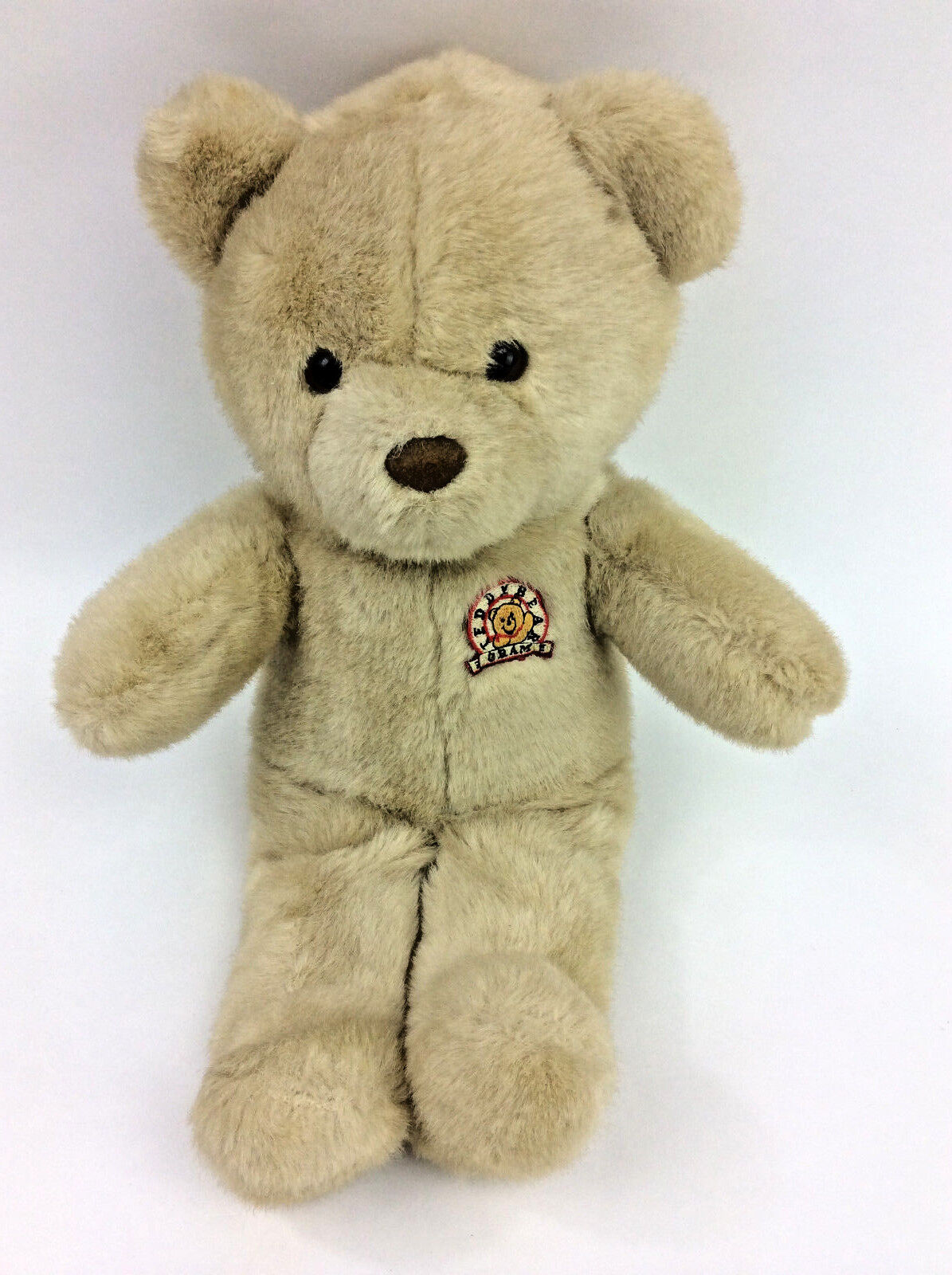 Teddy Bear Gram Brown Vintage Plush Stuffed Animal 14  Made Korea