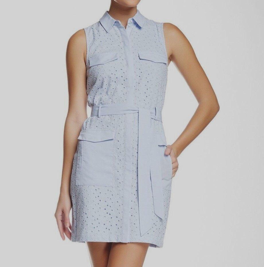 42 CECE CYNTHIA STEFFE LIGHT blueE EYELET SHIRT DRESS    FSZ 8    MSRP 160