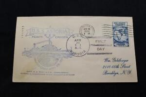 Navale-Cover-1934-Nave-Annullo-Postale-Commissioning-Uss-Astoria-CA-34-6291