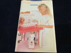Fashion-Doll-Playhouse-Plastic-Canvas-Pattern-with-charts-fits-Barbie-HTF-Q371