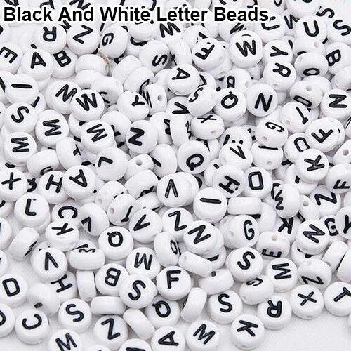 EG/_ 100 Pcs Spacer Beads Cube Alphabet Letter Bracelet Jewelry Making DIY Goodis