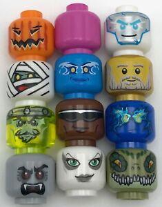 Glow In The Dark. Lot of 29 Brand New LEGO Heads Lego minifigure heads