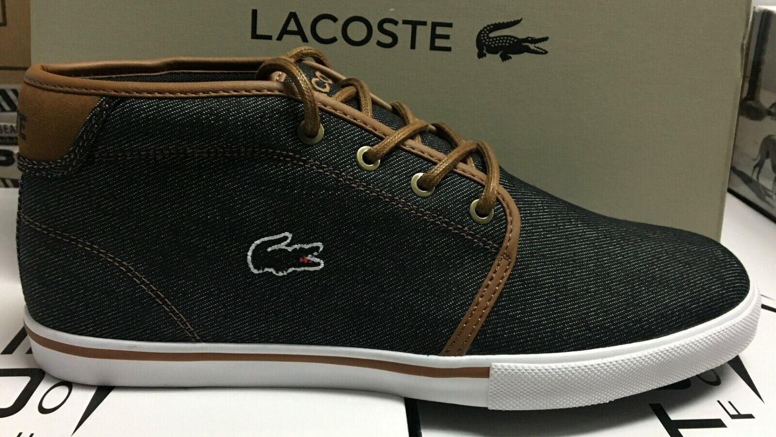 Lacoste Ampthill 317 1 CAM Canvas Men's Casual Sneakers Black 7-34CAM0001094  L